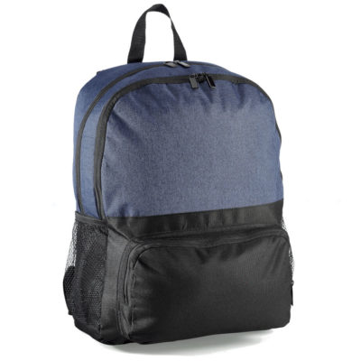 "Parsons Laptop Backpack in navy with large zip comaprtment, front zip pocket and mesh side pockets. Fits 15.6"" laptop"