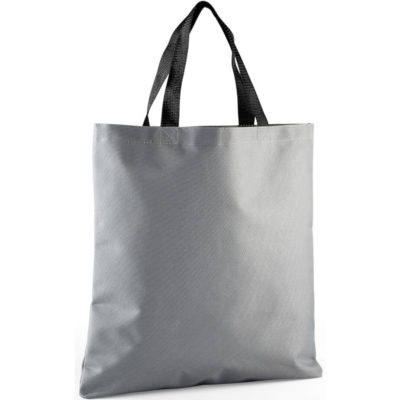 The Boscov Tote is a grey durable tote bag with contrasting black webbing straps