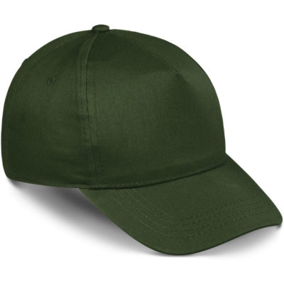 The Piccolo Kids Cap is a cotton twill dark green cap with 5 panels and a velcro closure