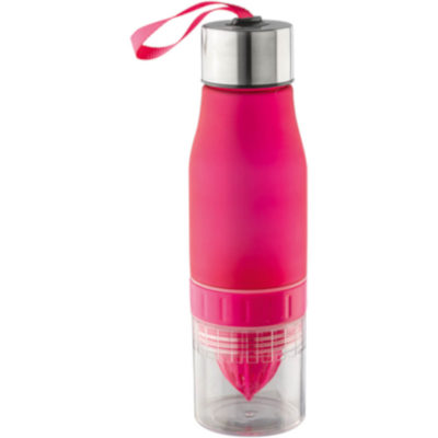 650ml Fruit Juicer Water Bottle in Pink.