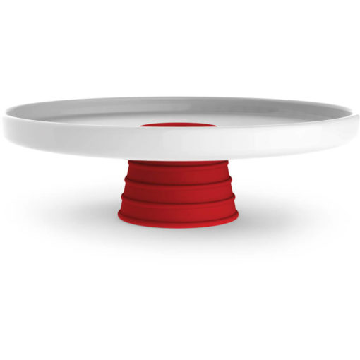 The Andy Cartwright Topsy-Turvy Serving Platter with red addition