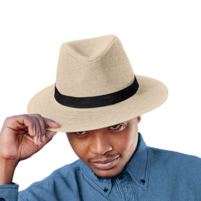 100% Paper Straw Havana Hat With Black Woven Band
