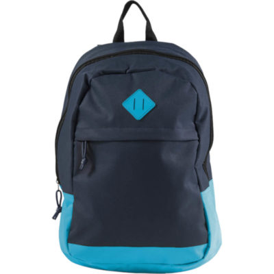 The 600D Backpack With Zippered Front Pocket is made from a 600D polyester material, contains a front zippered pocket, has a colour accent, a main zippered compartment as well as adjustable shoulder straps. Colour: Blue-Navy