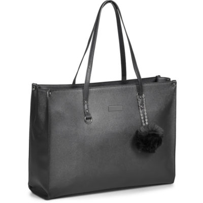 The Foxi Ladies Laptop Bag is a PU handbag shaped laptop bag with a zippered interior pocket and branding plaquet