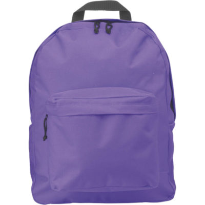 The Arched Front Pocket Backpack in Purple