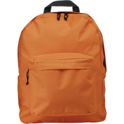 The Arched Front Pocket Backpack in Orange