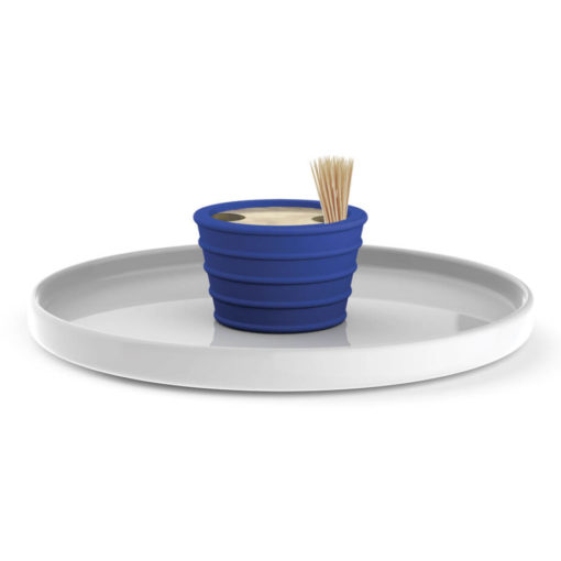 The Andy Cartwright Topsy-Turvy Serving Platter with blue addition