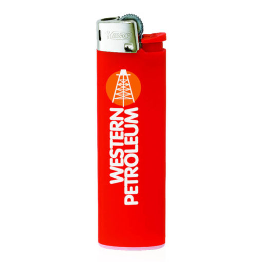 Red BIC J3 Slim Line Lighter