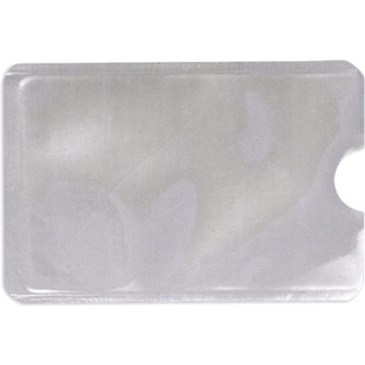 The RFID Aluminium Foil Card Holder in silver made from plastic and aluminium foil