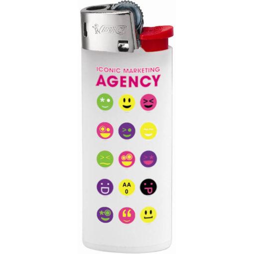 White Plastic BIC J5 Mini Lighter