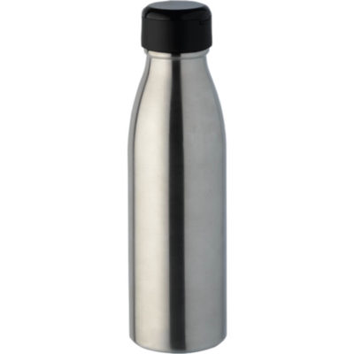 The 2 in 1 Water Bottle With Bluetooth Earphones silver