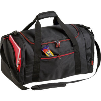 High Performance Contrast Colour Sports Bag in Red