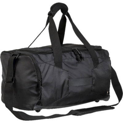 The Contrast Lining Sports Bag in Black