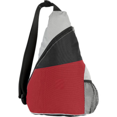The Three Tone Sling Bag in Red.