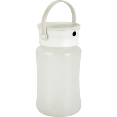 The Silicone Outdoor Lamp With Storage Compartment with screw off lid and a carry handle