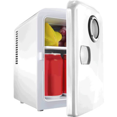 6 Can Mini-Fridge With Built In Bluetooth Speaker