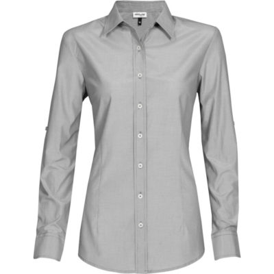 The Ladies Long Sleeve Portsmouth Shirt in Black.