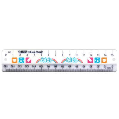 White BIC 15cm Ruler