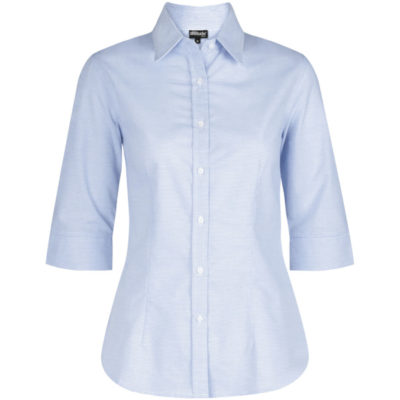 The Ladies 3/4 Sleeve Earl Shirt in Light Blue
