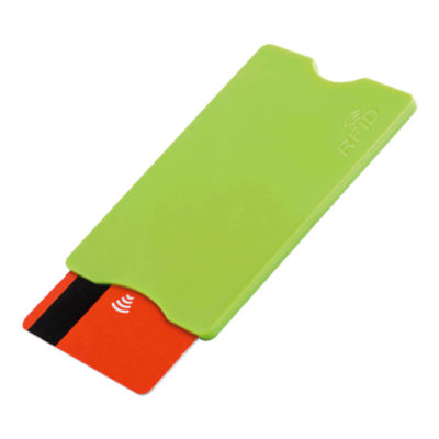 Light Green Plastic Card Holder With RFID Protection