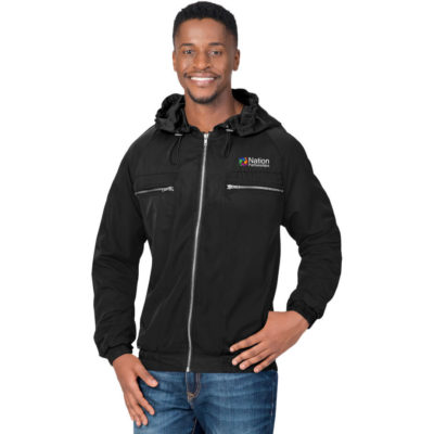 The Men's Epic Jacket is made from simulated memory polyester & polyester lining in the colour black with different sizes.