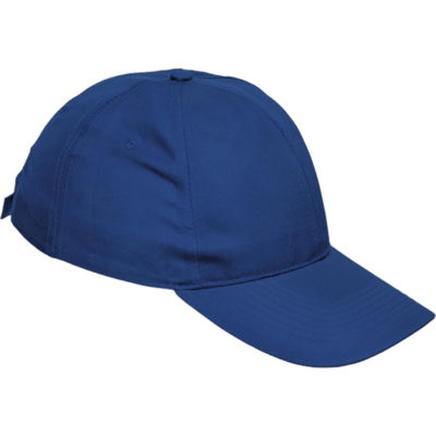 The royal blue 6 Panel Boost Cap is a 100% polyester twill fabric cap with a pre-curved peak and velcro closure.