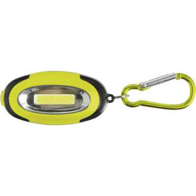 The Carabiner Light with 6 COB LEDs. Colour: Green.