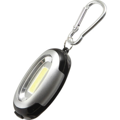 The Carabiner Light with 6 COB LEDs. Colour: Silver.