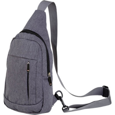 The Melange Shoulder Bag With Front Pocket Grey Melange is a polyester sling bag worn as a shoulder bag or backpack. With a front compartment and large main compartment. Theres multiple pockets for storage and an adjustable shoulder strap for a great fit. Anti-theft zip pouch against the bag of the bag