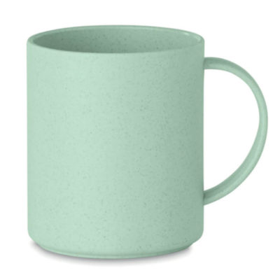 The Bamboo Cup is made from 50% Bamboo fibre and 50% PP plastic, the pastel pigment of these mugs make it stand out from the rest so be sure to brand it with your logo and watch the heads turn. Colour: Green
