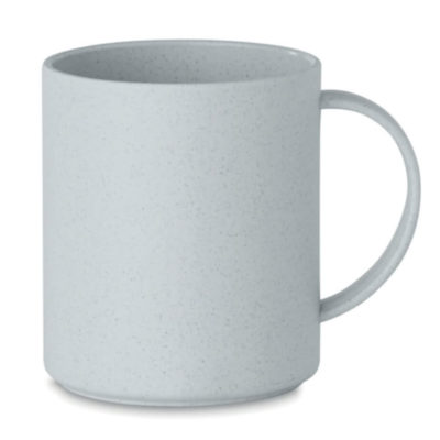 The Bamboo Cup is made from 50% Bamboo fibre and 50% PP plastic, the pastel pigment of these mugs make it stand out from the rest so be sure to brand it with your logo and watch the heads turn. Colour: Grey