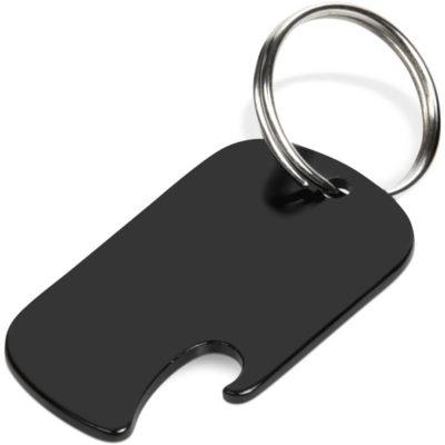 The Jimmy Bottle Opener Keyholder is an aluminium keyholder in all black with a bottle opner lip