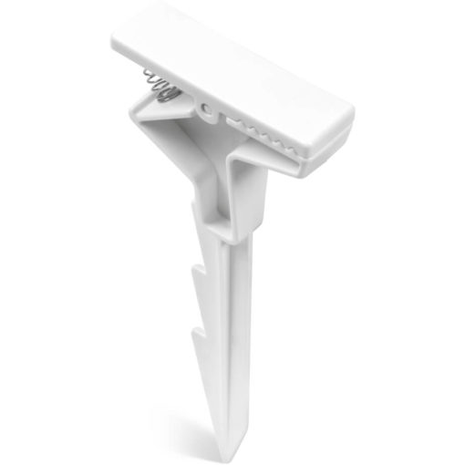 The Sandbar Blanket Clip is an ABS all white clip with a serrated peg