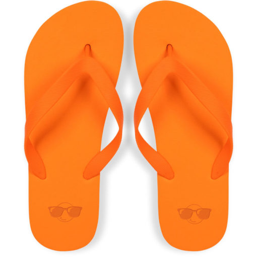 The Maldives Unisex Flip Flops Are Made From A Sturdy And Comfortable EVA & PVC Material, Come In A Nifty Travel Bag And Are Available In Sizes Medium And Large, In Colour: Orange.