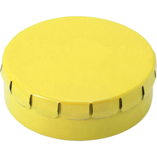 The Mints in Metal Tin Are Sugar Free And The Lid Of The Tin Is Clip To Close. Tin Colour: Yellow.