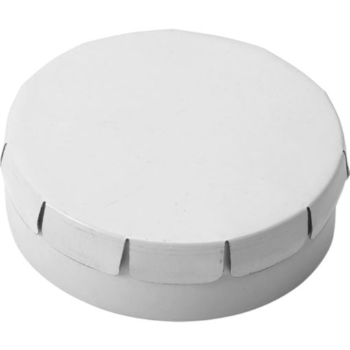 The Mints in Metal Tin Are Sugar Free And The Lid Of The Tin Is Clip To Close. Tin Colour: White.