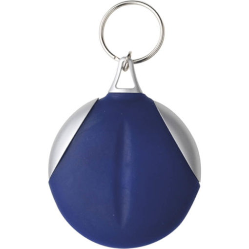 The Keychain with Recycled Fibre Cloth Is A Vinyl Covered Keychain That Also Consists Of A Plastic Material. Colour: Blue.