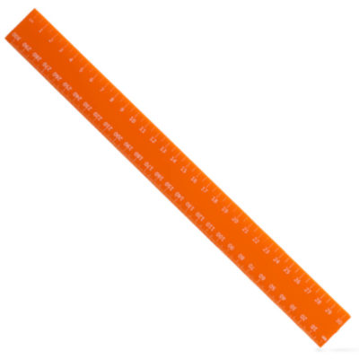 Orange 30cm plastic ruler
