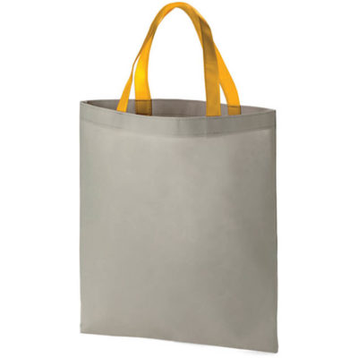The Bronte Shopper bag with a yellow strap attached