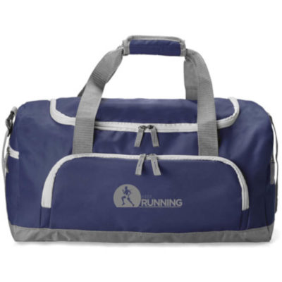 Navy Club Sports duffel bag made from 600D polyester with adjustable velcro straps.