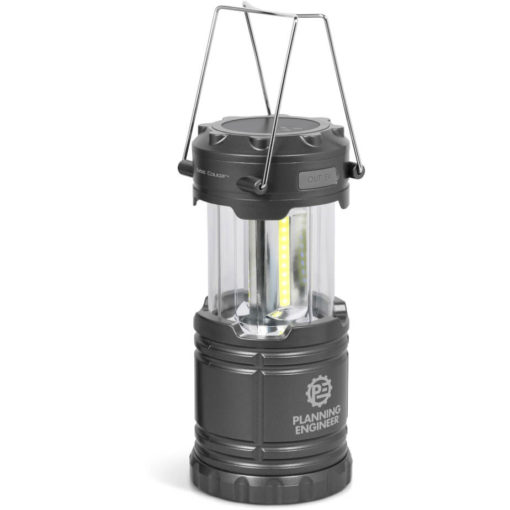Swiss Cougar black lantern on wireless charging stand
