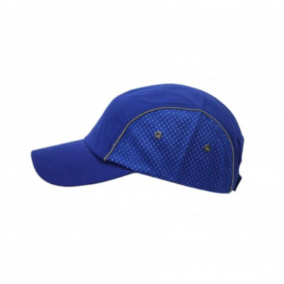 Royal Blue Microfiber 5 Panel Elite Cap With Velcro Strap And Mesh Inset