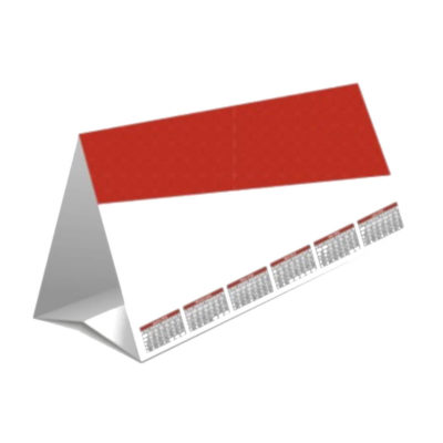The Tent Calendar is a small desks ize calendar made fromt sturdy board. With various material options and layout variations to choose from