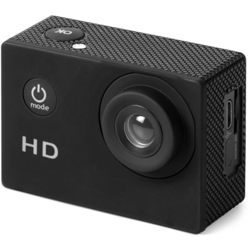 The Thrill-Seeker Action Camera is a mini ABS camera, with waterproof features, an LCD display and 2 hour battery life