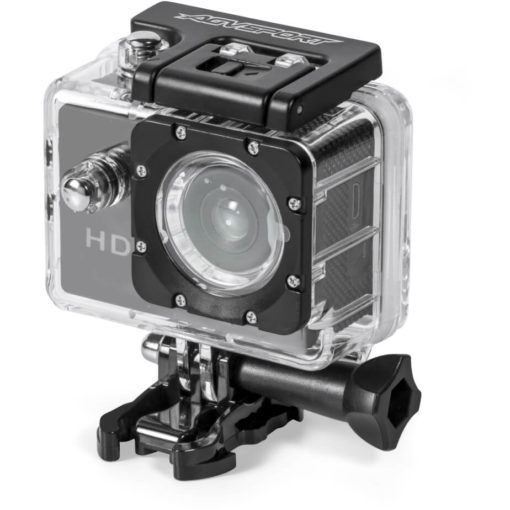 The Thrill-Seeker Action Camera in its waterproof case making it ideal for underwater adventures