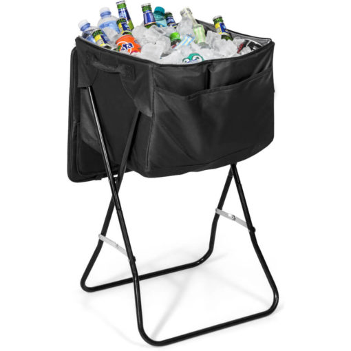 The Paradiso 72-Can Cooler is made from 600D and lined with PEVA displaying its large capacity and ability to hold a variety of drinks and ice