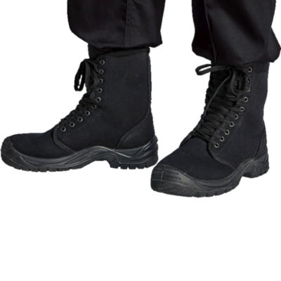 The Barron Protector Boot , Anti-Static Removable Inner Sole, Oil Resistant, Slip Resistant, Shock Resistant, Durable, Ant-Static And Oil Resistant Finish, Dual Density PU Sole. Colour: Black. Model.