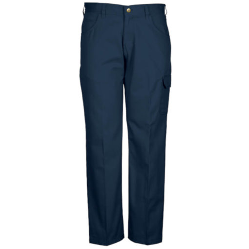 The Brixton Pants, Poly Cotton Twill Fabric, Constructed Waistband With Belt Loops, Back Patch Pockets, Back Yoke, Front Fly With Metal Zip And Shank, Curved Pockets With A Money Pocket, Single Patch Pocket With Flap And Cell Phone Side Pocket, Triple Needle Stitching On Back Rise And In The Leg. Colour: Navy.