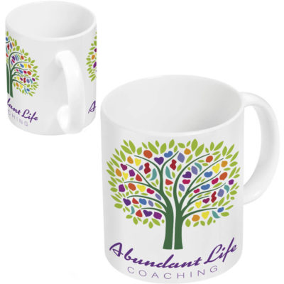 The Blank Canvas Sublimation Mug in a solid white colour has a capacity of 330ml. Made from made from AB grade ceramic