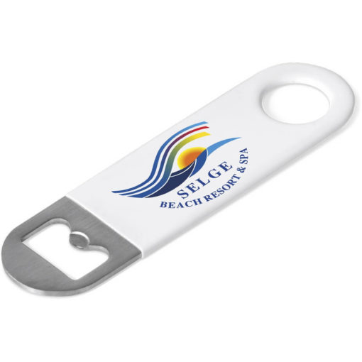 The Sundowner Opener comes in a solid white colour and its made of PVC & Stainless steel.